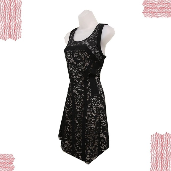 dc7c141c5c6 Diane Von Furstenberg Kala Black Lace Dress